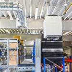Aeroterme verticale - Instalare echipamente incalzire spatii industriale cu inaltimi medii si mari, spatii de productie, hale depozitare