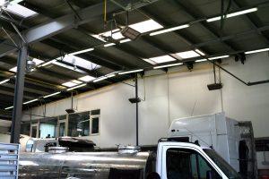 Solutii incalzire garaje service auto, ateliere, spatii