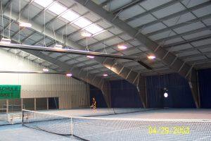 Solutii de incalzire baloane de tenis, sali de sport, sali de gimnastica