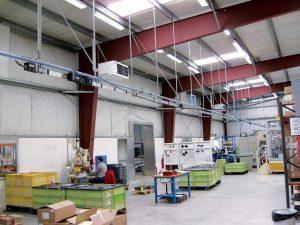 Generatoare de aer cald suspendate cu ventilator centrifugal