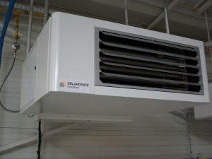 Generatoare de aer cald suspendate cu ventilator elicoidal Solaronics